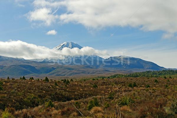 Volcanic Peak through the Clouds Stock photo © wildnerdpix