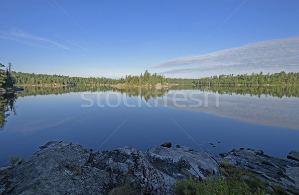 Morning Panorama in Canada Stock photo © wildnerdpix