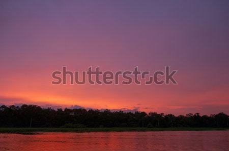 Tramonto colorato fiume panorama riflessione Foto d'archivio © wildnerdpix