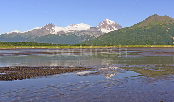 Reflections on a Sunny Day at Low Tide Stock photo © wildnerdpix