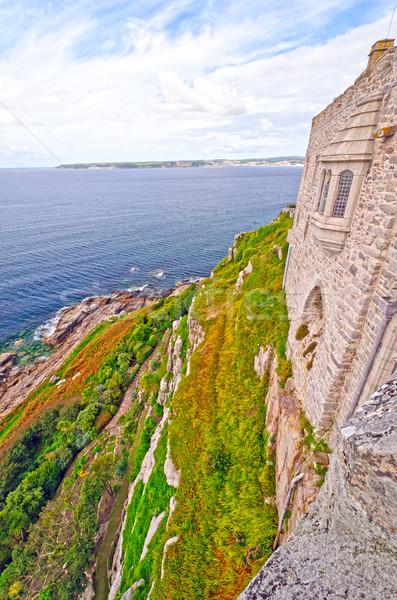 Rupe view isola castello cornwall Inghilterra Foto d'archivio © wildnerdpix