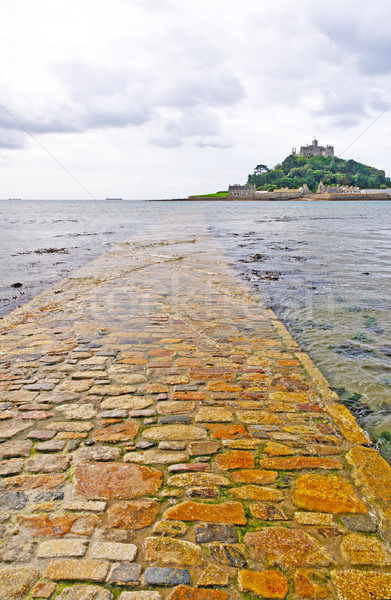 Stock photo: Causeway to a Tidal Island