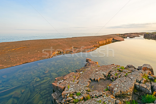 Evening Light on the Shore of the Great Lakes Stock photo © wildnerdpix