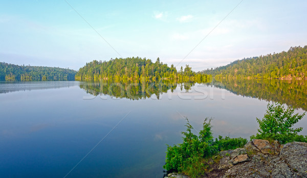 Morning Calm on a Wilderness lake Stock photo © wildnerdpix