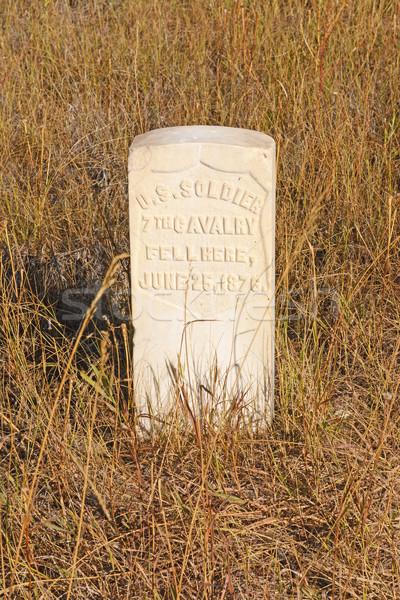 Gravestone at an Indian Battlefield Stock photo © wildnerdpix