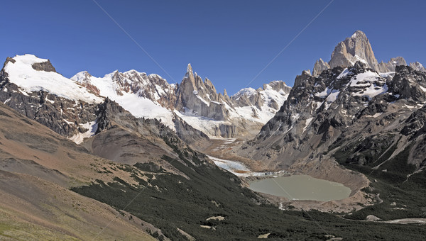 Patagonian Andes Panorama Stock photo © wildnerdpix