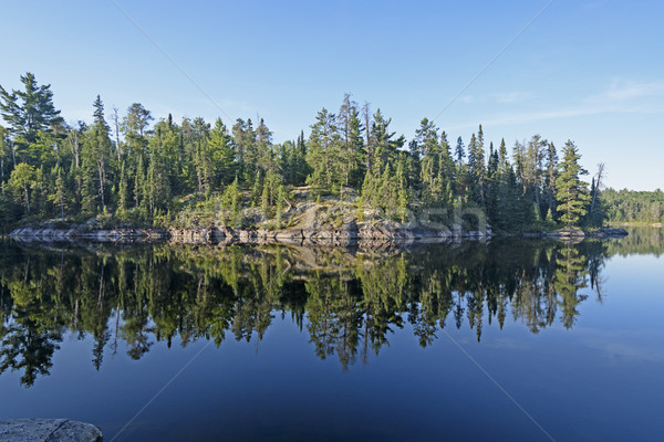 Morning Reflections in Canoe Country Stock photo © wildnerdpix