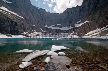 айсберг озеро лет день ледник парка Сток-фото © wildnerdpix
