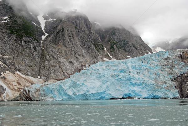 Stok fotoğraf: Mavi · buz · okyanus · sis · muhteşem · kuzeybatı