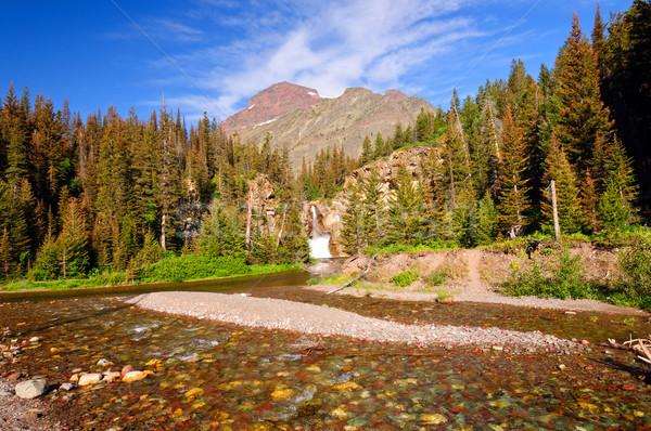 Stockfoto: Rivier · waterval · berg · west · lopen · adelaar