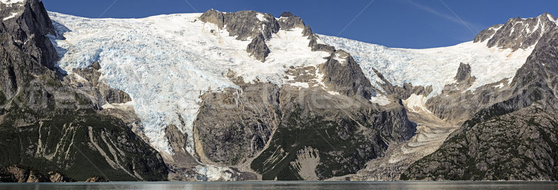 Glacial Panorama in Alaska Stock photo © wildnerdpix