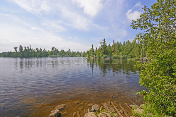 View of the from the End of the Portage Stock photo © wildnerdpix