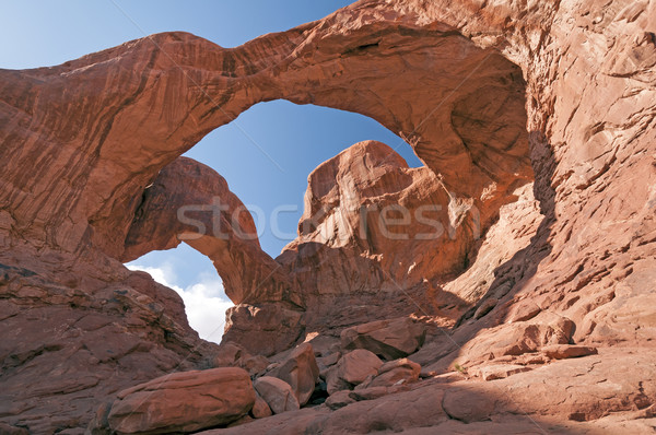 Double Arch in Late Afternoon Sun Stock photo © wildnerdpix