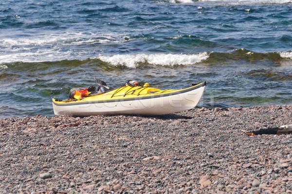 海 カヤック リモート 海 ビーチ 緑 ストックフォト © wildnerdpix