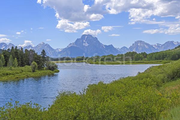 Dramatic Peak at a River Bend Stock photo © wildnerdpix