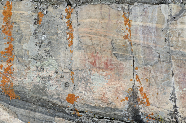 Pictograph on a Wilderness Rock Face Stock photo © wildnerdpix