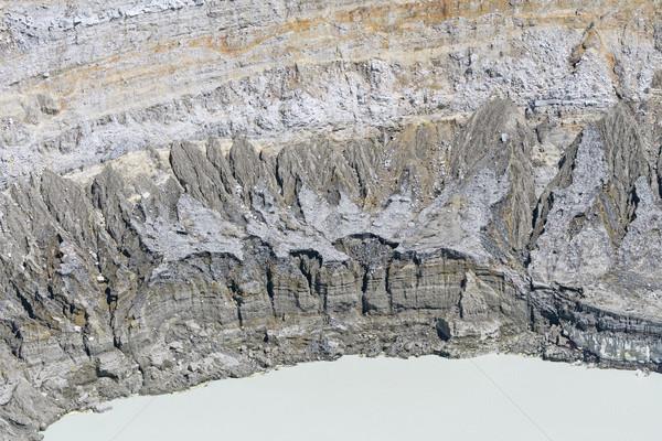 Crater Wall Detail of Volcanic Caldera Stock photo © wildnerdpix