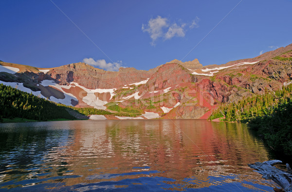 Morning Colors and Reflections on an Alpine Lake Stock photo © wildnerdpix