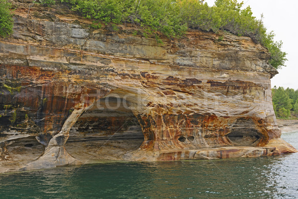 Colorido arenisca acantilado rocas Michigan Foto stock © wildnerdpix