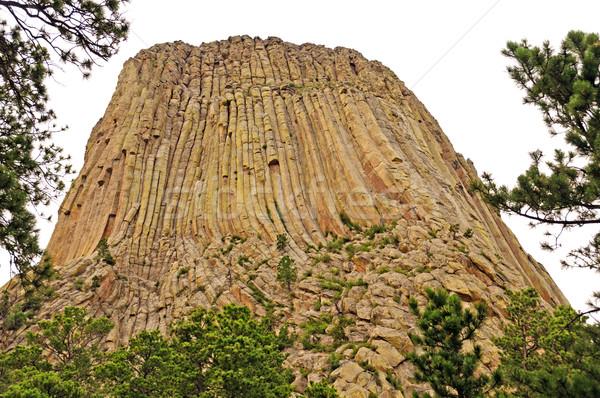 Rock pinnacle on a cloudy day Stock photo © wildnerdpix