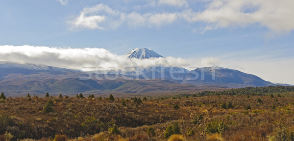 Volcanic Peak appearing from behind the clouds Stock photo © wildnerdpix