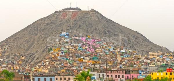 Urbanas colina américa latina lima Perú ciudad Foto stock © wildnerdpix