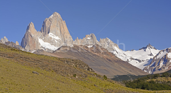 The Patagonian Andes along a Mountain Valley Stock photo © wildnerdpix