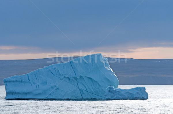 Ijsberg schemering eiland hoog Blauw Stockfoto © wildnerdpix