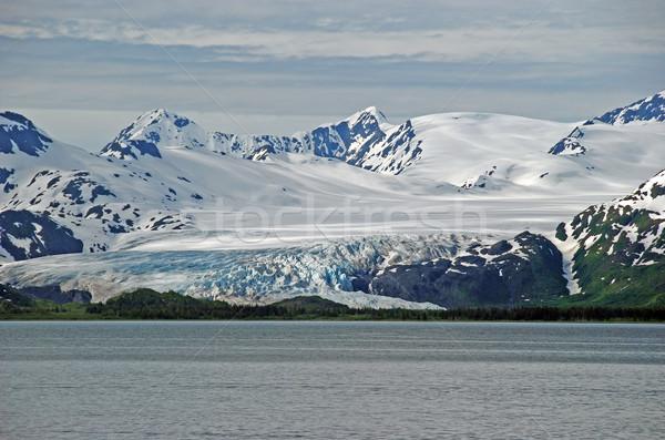 Gelo nuvens oceano Alasca geleira príncipe Foto stock © wildnerdpix