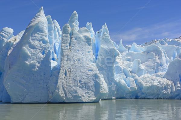 Drammatico ghiaccio toe ghiacciaio grigio natura Foto d'archivio © wildnerdpix