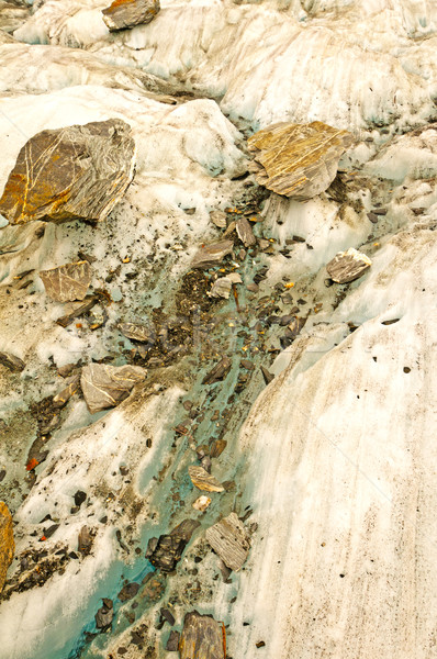 Rock Fragments on Glacial Ice Stock photo © wildnerdpix