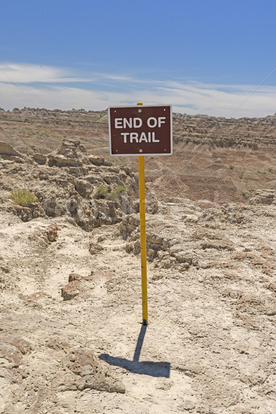 End of Trail Sign in the Wilderness Stock photo © wildnerdpix
