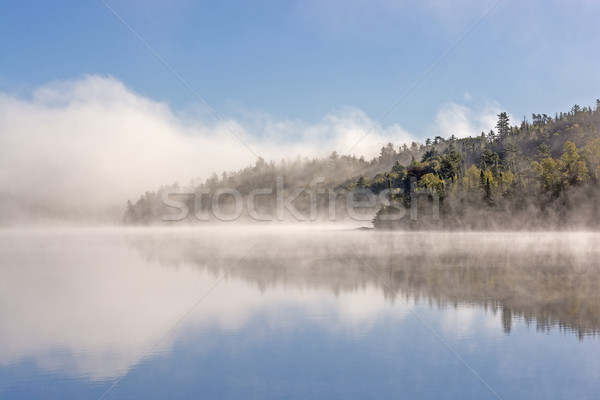 Morning Fog and Clouds in the North Woods Stock photo © wildnerdpix