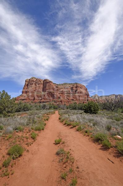 út piros kövek természet sivatag távoli Stock fotó © wildnerdpix