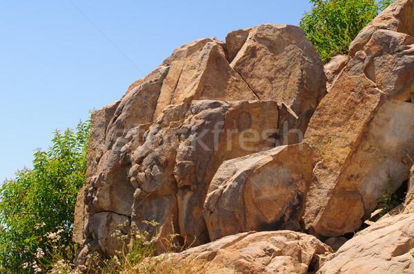 Mountain rocks in the summer sky Stock photo © wildnerdpix