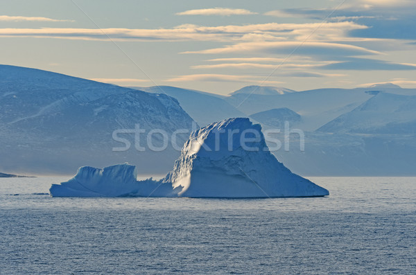 Ice, Fog, and Mountains in the High Arctic Stock photo © wildnerdpix