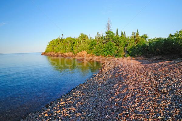 Sunset on the Lake shore Stock photo © wildnerdpix