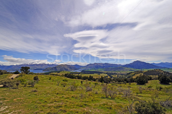 Lenticular Clouds over the Mountains Stock photo © wildnerdpix