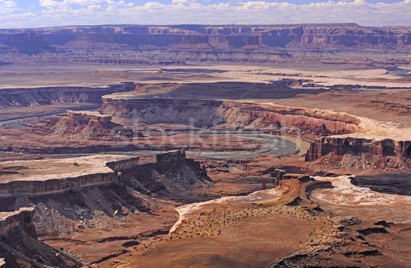 Dramatik nehir kanyon amerikan batı yeşil Stok fotoğraf © wildnerdpix