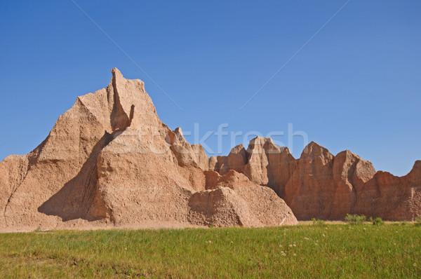 Red rocks in the Badlands Stock photo © wildnerdpix
