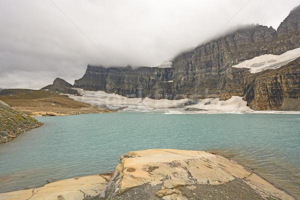 Nudo rock lago ghiacciaio parco Montana Foto d'archivio © wildnerdpix