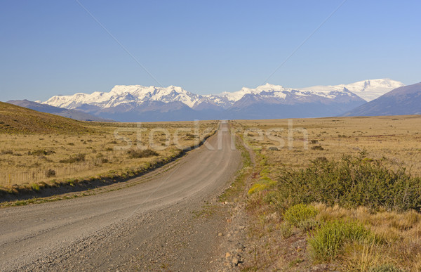 Rural Road Leading to the Mountains Stock photo © wildnerdpix