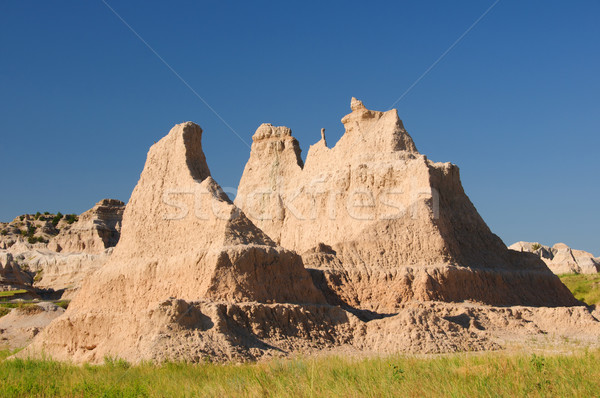 Badlands formation in the summer heat Stock photo © wildnerdpix