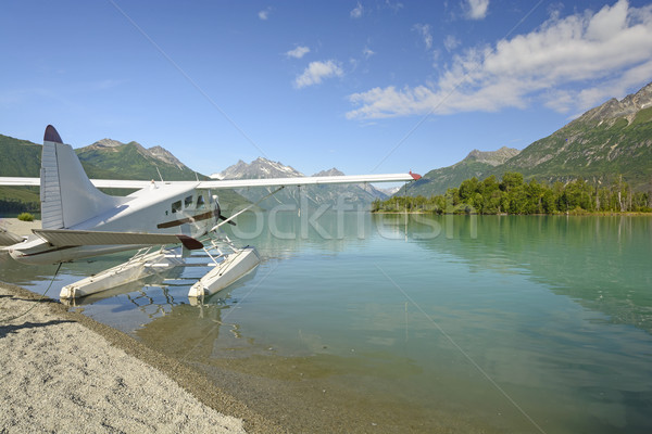 Float Plane on a Wilderness Lake Stock photo © wildnerdpix