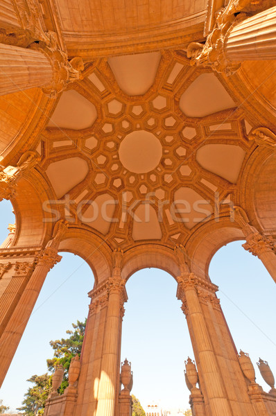 Under Ceiling view of a Classical Building Stock photo © wildnerdpix