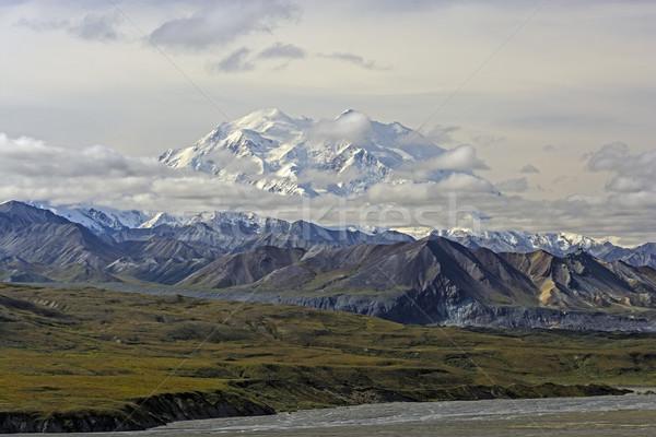 Kar dağ bulutlar park Alaska manzara Stok fotoğraf © wildnerdpix