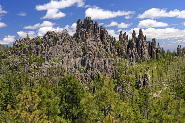 Broken Rocks and Crags in the Mountains Stock photo © wildnerdpix