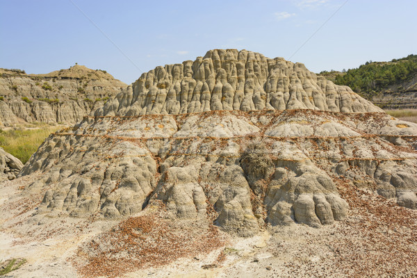 Colorful Badlands formation in the Summer Stock photo © wildnerdpix