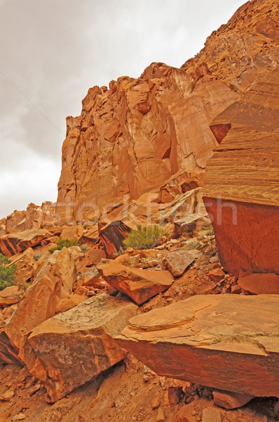 Stock photo: Red Rocks in a Hidden Canyon