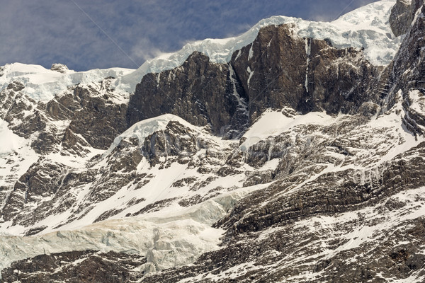 Impiccagione rock francese valle parco neve Foto d'archivio © wildnerdpix